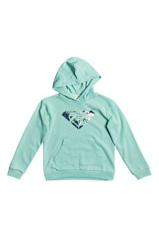 KIDS Roxy Green Indian Poem Organic Hoodie