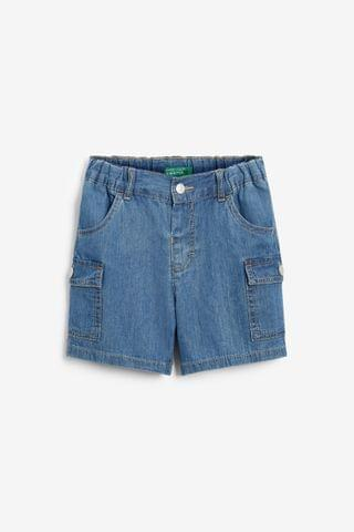 KIDS Benetton Denim Cargo Shorts
