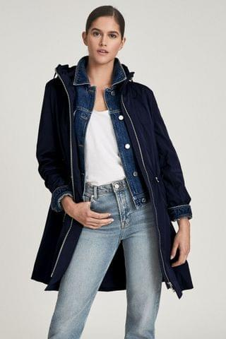 WOMEN REISS Blue Mila Lightweight Parka Jacket