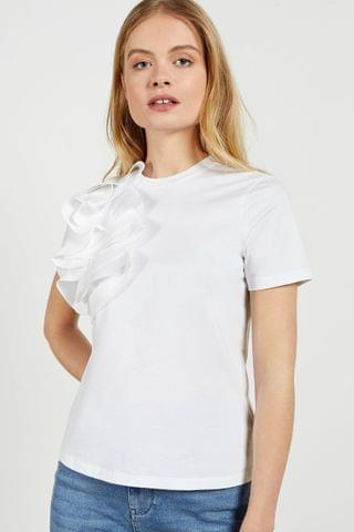 WOMEN Ted Baker Jessea Relaxed Cotton Frill T-Shirt
