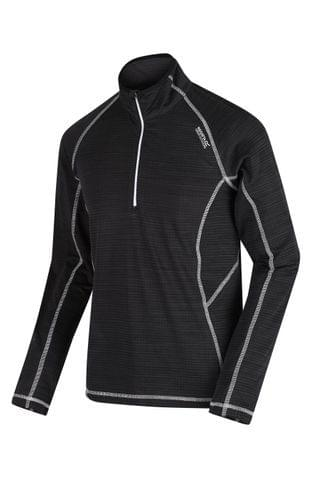 MEN Regatta Black Yonder Half Zip Fleece