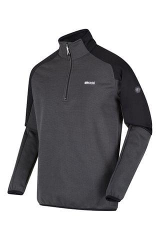 MEN Regatta Grey Highton Half Zip Fleece
