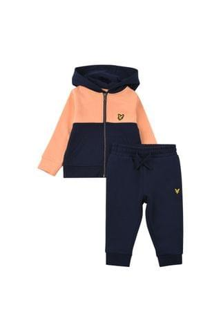 KIDS Lyle & Scott Contrast Panel Zip Hoodie And Joggers Set