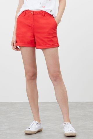 WOMEN Joules Cruise Mid Thigh Length Chino Shorts