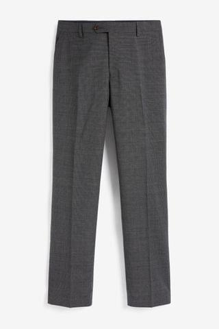 MEN Grey Signature Puppytooth Suit Trousers