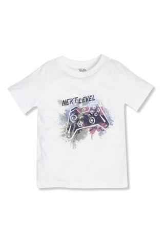 KIDS M&Co White Short Sleeve Slogan T-Shirt