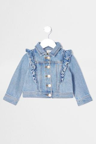 KIDS River Island Frill Denim Jacket