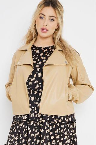 WOMEN Simply Be Oversized Relaxed PU Jacket