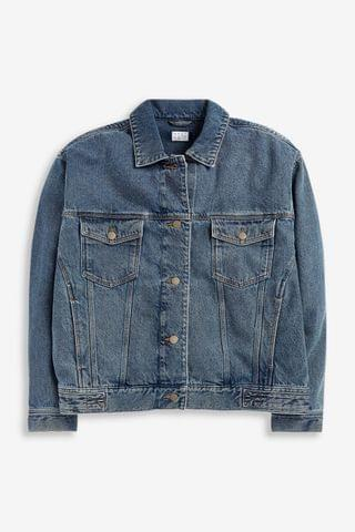 KIDS Denim Blue Oversized Denim Jacket