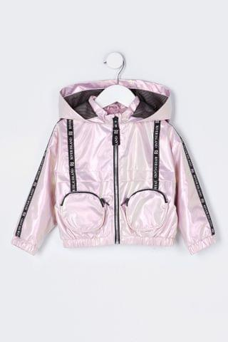 KIDS River Island Pink Medium Betsey 3D Pocket Bomber Jacket