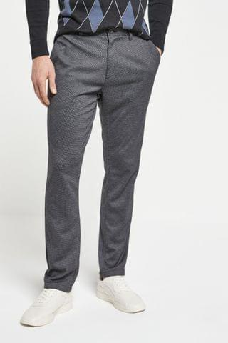 MEN Grey Puppytooth Motion Flex Soft Touch Trousers