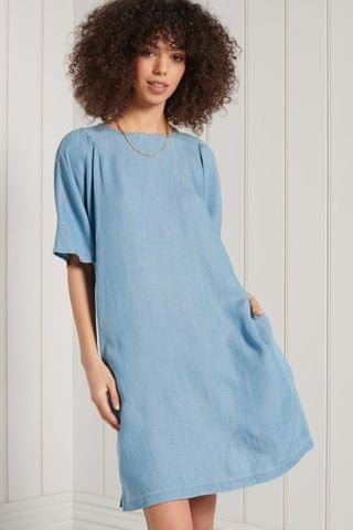 WOMEN Superdry TENCEL T-Shirt Dress