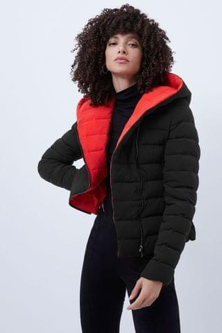 WOMEN French Connection Black Iola Puffer Coat