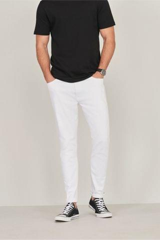 MEN White Jeans With Stretch