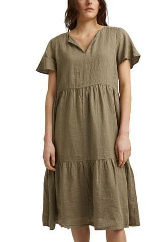 WOMEN Esprit Womens Casual Linen Dress