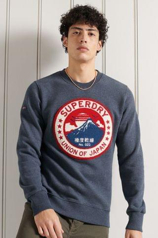 MEN Superdry Limited Edition Chenille Patch Crew Sweatshirt