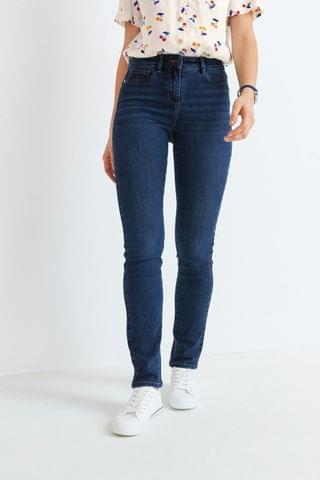WOMEN Dark Blue Power Stretch Slim Jeans