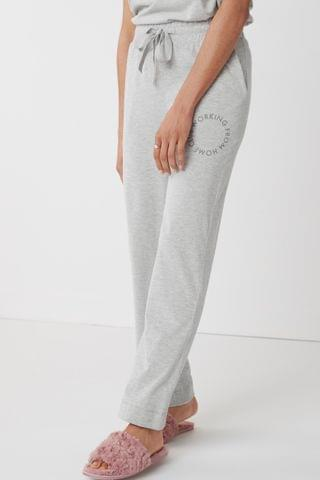 WOMEN Grey Working From Home Wide Leg Trousers