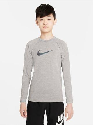KIDS Big Kids' (Boys') Long-Sleeve Hydroguard Swim Shirt Nike Heather