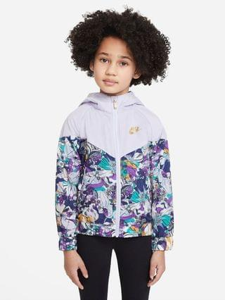 KIDS Little Kids' Full-Zip Printed Jacket Nike Sportswear Windrunner