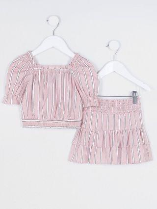 KIDS Mini girls pink Milkmaid outfit