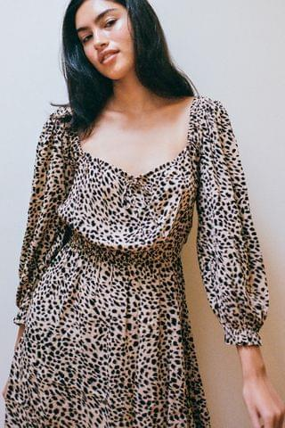 WOMEN Billabong Riviera Animal Print Mini Dress