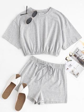 WOMEN Marled Two Piece Set - Gray S