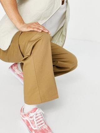 COLLUSION straight leg cargo pants in stone