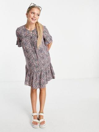WOMEN Pieces Maternity midi smock dress in lilac whimsy floral