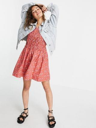 WOMEN Free People petunia backless mini dress in ditsy floral print