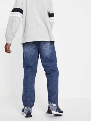 New Look loose fit jean in mid wash blue
