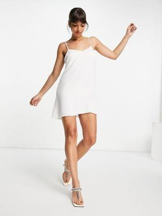 WOMEN French Connection Cabrera lace mini dress in white