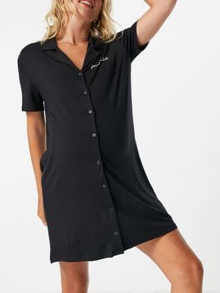 WOMEN Missguided Maternity nighshirt with short sleeves in black