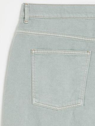 WOMEN Curve high rise 'relaxed' dad jean in iceberg green with rips
