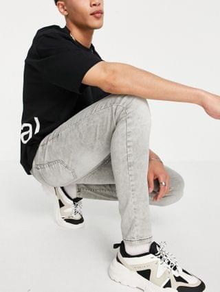 New Look super skinny jeans in gray acid wash