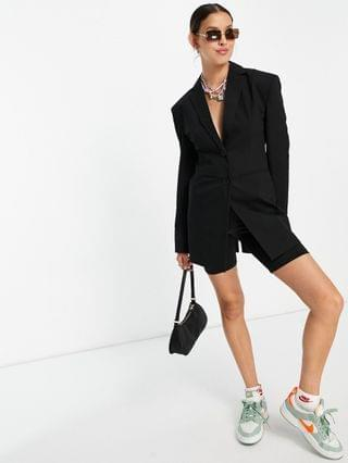 WOMEN COLLUSION fitted blazer in black