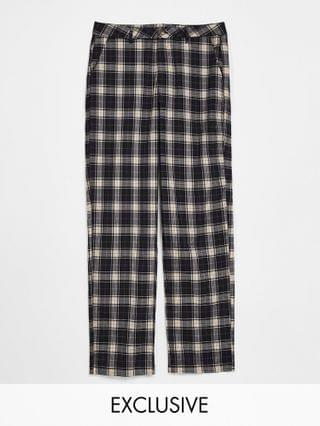 Reclaimed Vintage Inspired cutabout check blazer and trouser suit set