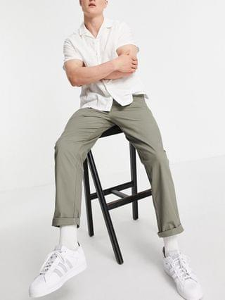 relaxed skater chinos in khaki