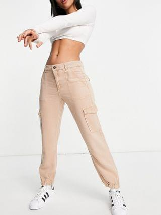 WOMEN Guess utility cargo pants in light brown