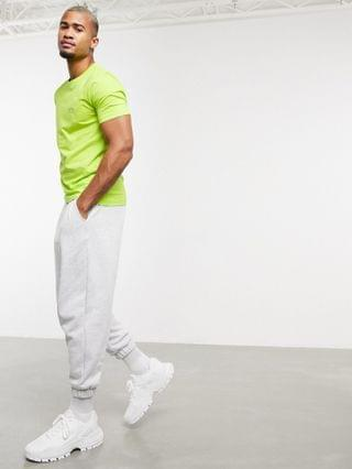 BOSS Athleisure Tee Curved small logo T-shirt in lime green