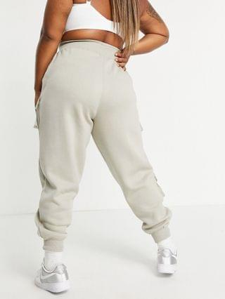 WOMEN Public Desire Curve x Amber Gill pocket detail cuffed cargo pants in taupe