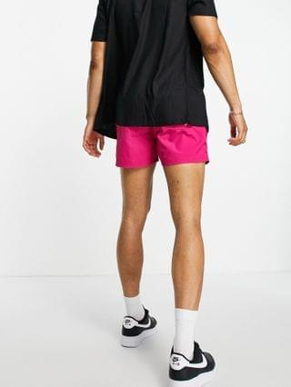 MEN Guess swim shorts in pink with small logo