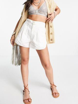 WOMEN Free People pleated shorty pull on relaxed shorts