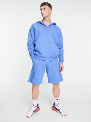 oversized hoodie in blue vintage wash - part of a set