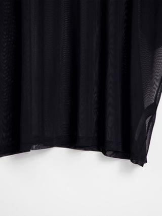 WOMEN Curve exclusive oversized mesh T-shirt in black