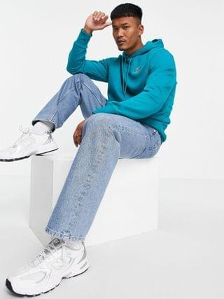 New Balance embroidered hoodie in teal
