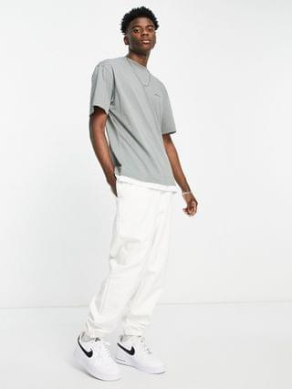COLLUSION oversized t-shirt with double layer effect in charcoal