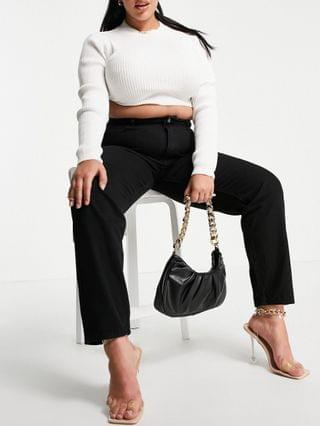 WOMEN Missguided Plus Riot high rise mom jeans in black