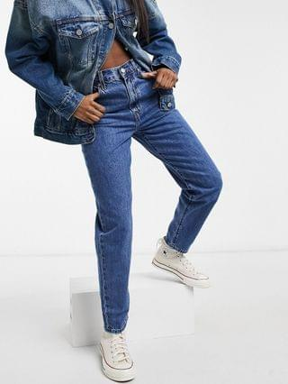 WOMEN Levi's high loose tapered leg jeans in mid wash
