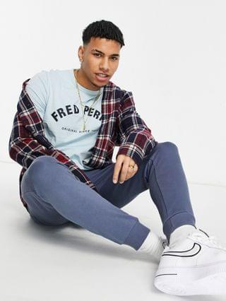 Fred Perry arch branded T-shirt in blue Exclusive to